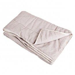 Зимнее одеяло льняное стеганое